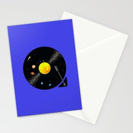 Solar System Vinyl Record Stationery Cards