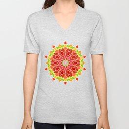 Vintage Mandala Flower Unisex V-Neck