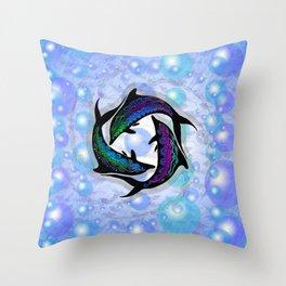 DOLPHINS CIRCLE Throw Pillow