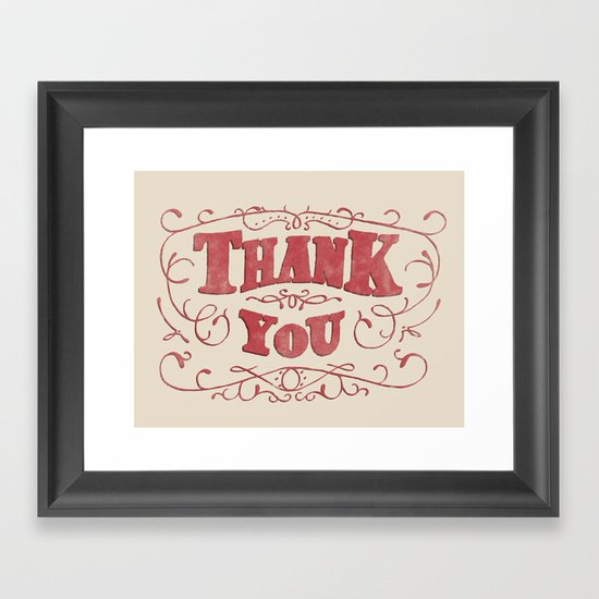 Thank You Framed Art Print