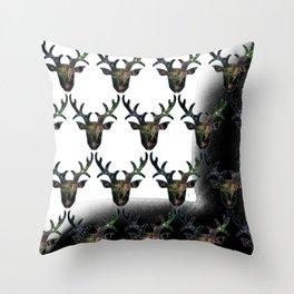 Deer Web Head Throw Pillow