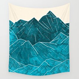 Mountains under the white sun Wall Tapestry