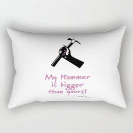 My Hammer is Bigger Than Yours Rectangular Pillow