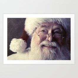 Classic Portrait of a Real Santa Claus Art Print