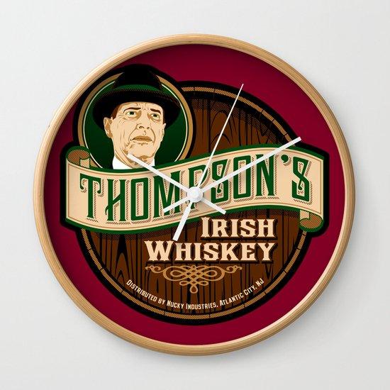 Thompson's Irish Whiskey Wall Clock