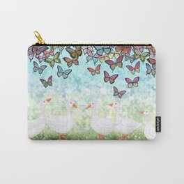 butterfly cascade and white geese Carry-All Pouch