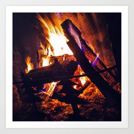 Caramel-Colored Fire Upta Camp Art Print