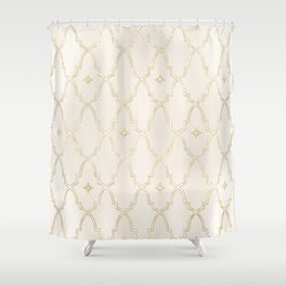 Celestial Pearl Gilded Arches Shower Curtain