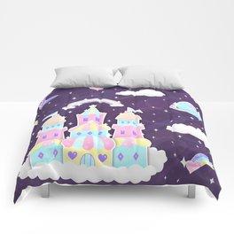 Dreamy Cute Space Castle Comforters