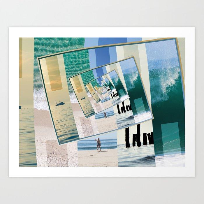 Watching The Ocean Art Print