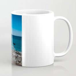 Beach and the bike - Nice, France summer Coffee Mug
