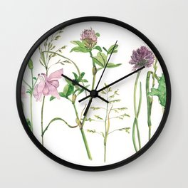 the daily creative project: grasses and herbaceous herbs Wall Clock