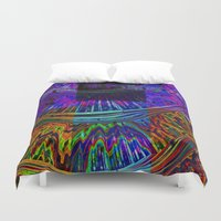 totem Duvet Covers featuring Totem by Amanda Moore