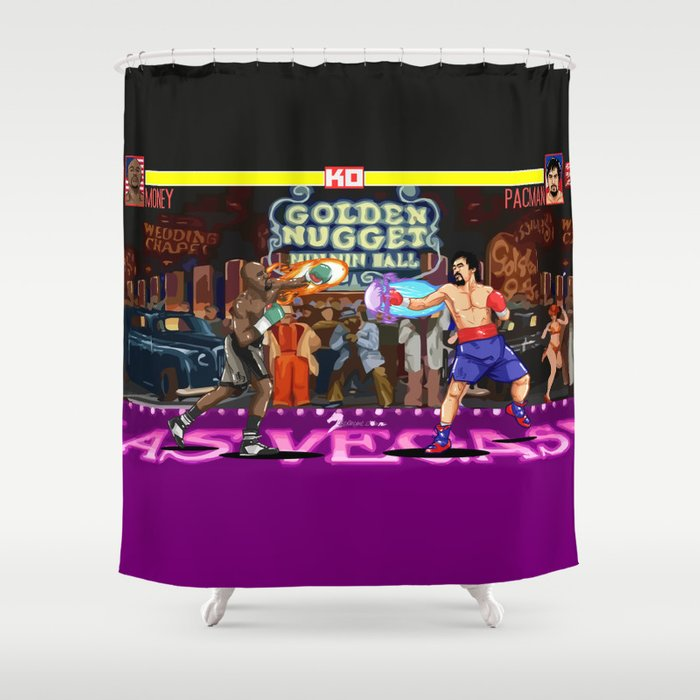 Boxing Legends Money Vs Pacman Shower Curtain
