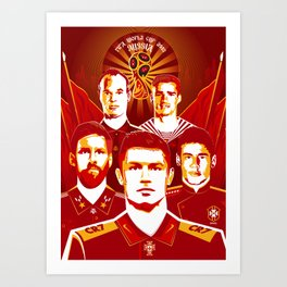 Russia football poster Art Print