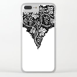 A Tailpiece of Grape Vines Clear iPhone Case