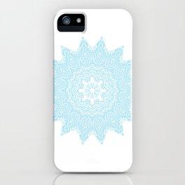 Moonlight Blue Mandala Bohemian Decor Medallion iPhone Case