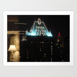 Hotel Vancouver with Harbour ctr.  Art Print