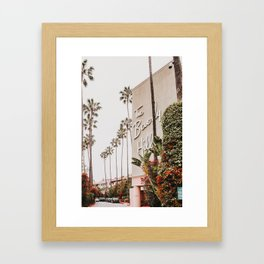 The Beverly Hills Hotel / Los Angeles, California Framed Art Print