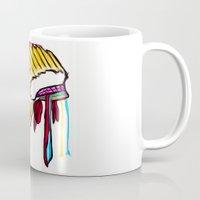 headdress Mugs featuring Headdress by Relic X