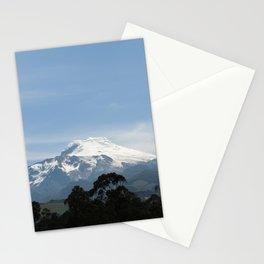 Snowy volcano Stationery Cards