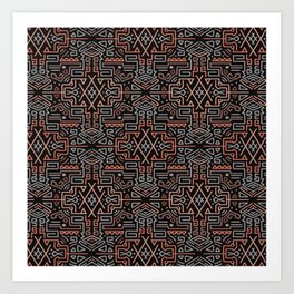 Autumn Tribal Pattern #2 Art Print