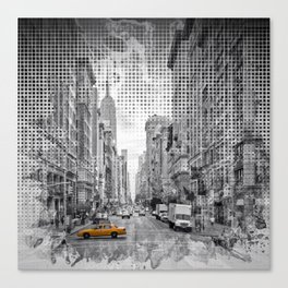 Graphic Art NEW YORK CITY 5th Avenue Canvas Print