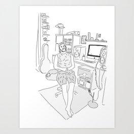 Michael at Home Art Print