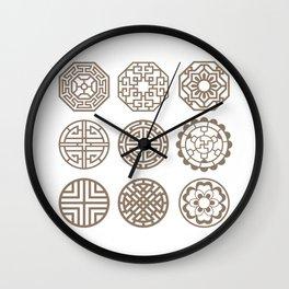 Korean Art : Dancheong Pattern #1 Wall Clock