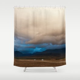 Something is coming Shower Curtain