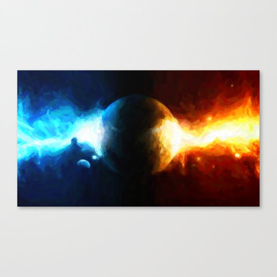 Galactic Countdown - Painting Style Canvas Print