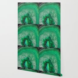 Green Emerald Agate Wallpaper