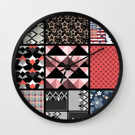 Favorite blanket and pillows . Patchwork 1 Wall Clock
