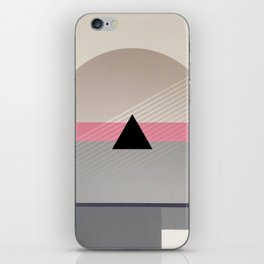 Green Line - small triangle graphic iPhone Skin