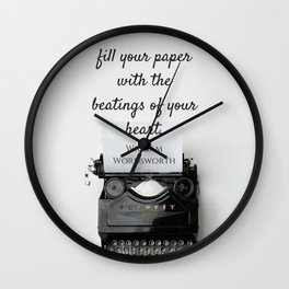 Wordsworth Quote Wall Clock