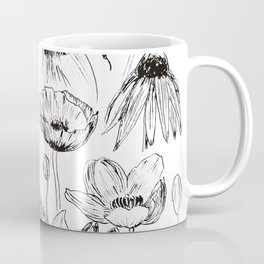 rabbits and flowers parties Coffee Mug