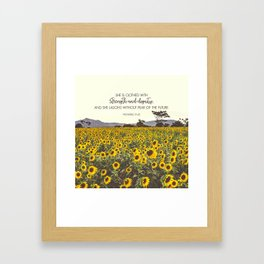 Proverbs and Sunflowers Framed Art Print