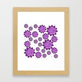 Flower pattern 5 Framed Art Print