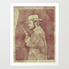 The Man with No Name Art Print