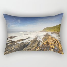 Rocky coastline in Garden Route National Park, South Africa Rectangular Pillow