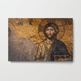 Deesis Mosaic (The Last Judgement) Metal Print