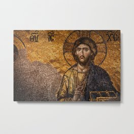 Deesis Mosaic (The Last Judgement) Metal Print