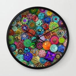 Glass Buttons Wall Clock