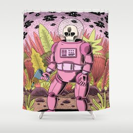 The Dead Spaceman Shower Curtain