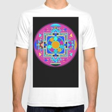 Mandala Mens Fitted Tee White MEDIUM