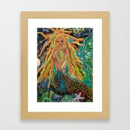 Mermaid and Baby Framed Art Print