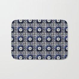 Azulejo VII - Portuguese hand painted tiles Bath Mat