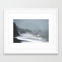 Pacific Northwest Beach Storm Framed Art Print
