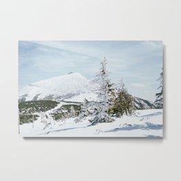 Sniezka Winter Mountains Metal Print
