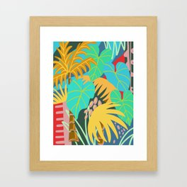 Deep in the tropical jungle, wall art, poster. Framed Art Print